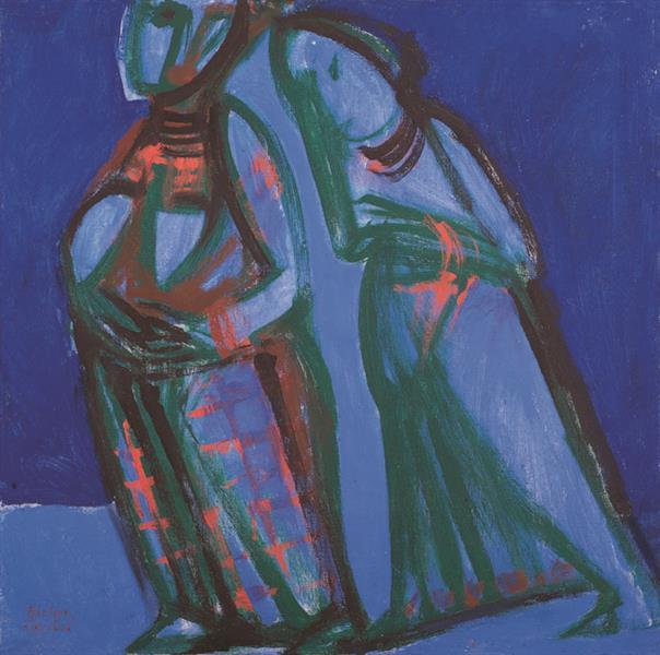 Матрена И Елизавета. 2001. Х.м., 60х60 См., 2001 - Владимир Лобода