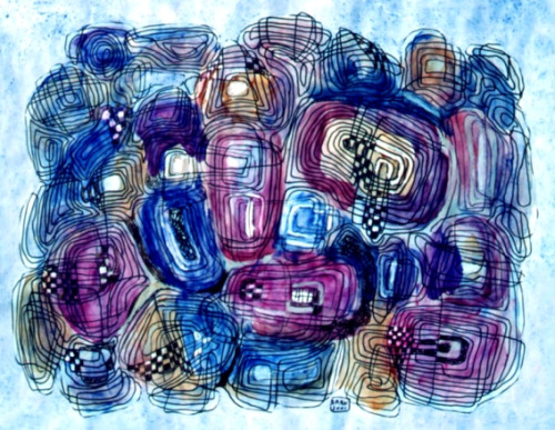 Blue Flowers - Георге Шару
