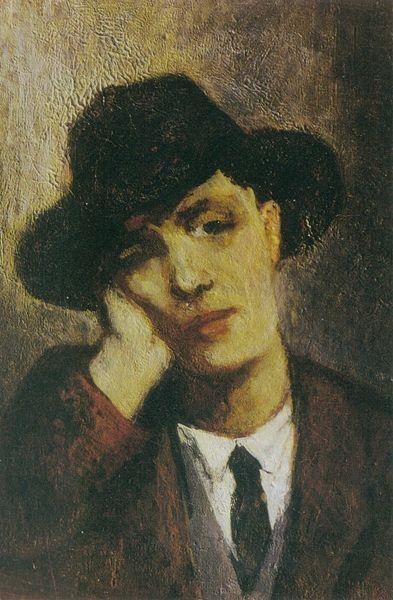 Portrait of Amadeo Modigliani (possibly by Jeanne Hébuterne), 1919 - 珍妮·赫布特尼