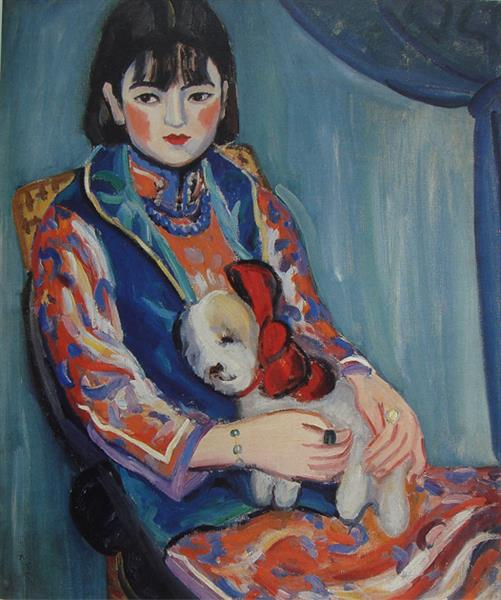 Portrait of a Girl, 1929 - Guan Zilan
