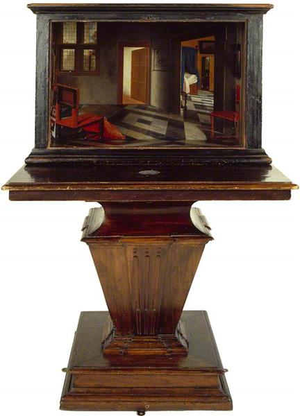 A Peepshow with Views of the Interior of a Dutch House, 1660 - Samuel van Hoogstraten