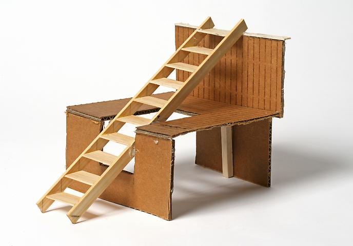 Dictionary for Building Stairs No. 5, 1976 - Siah Armajani