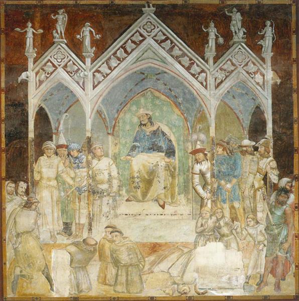 Martyrdom of the Franciscans, 1327 - Ambrogio Lorenzetti