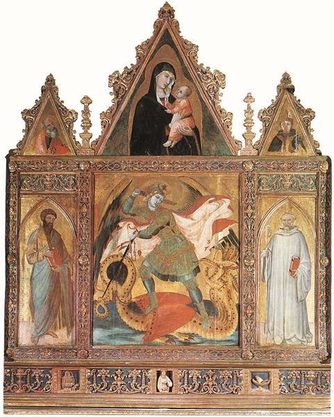 St Michael, 1335 - Ambrogio Lorenzetti