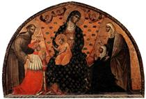 Doge Francesco Dandolo and His Wife Presented to the Madonna - Паоло Венециано