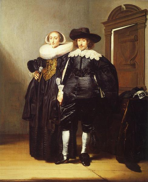 Double Portrait of a Married Couple, 1634 - Pieter Codde