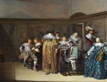 Dutch Cavaliers and Their Ladies Making Music - Pieter Codde