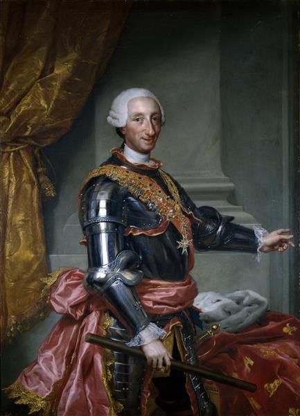Carlos III, 1761 - Антон Рафаэль Менгс