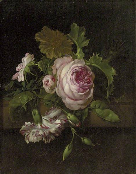 Still Life of Flowers, 1677 - Willem van Aelst