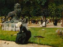 In the Luxembourg Garden - Charles Courtney Curran