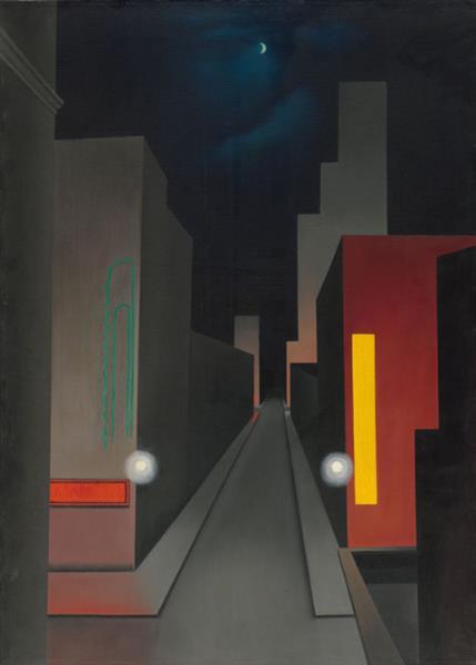 New Moon, New York, 1945 - George Ault