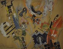 Sketch of Scenery for the Opera 'Love for Three Oranges' - Alexander Khvostenko-Khvostov