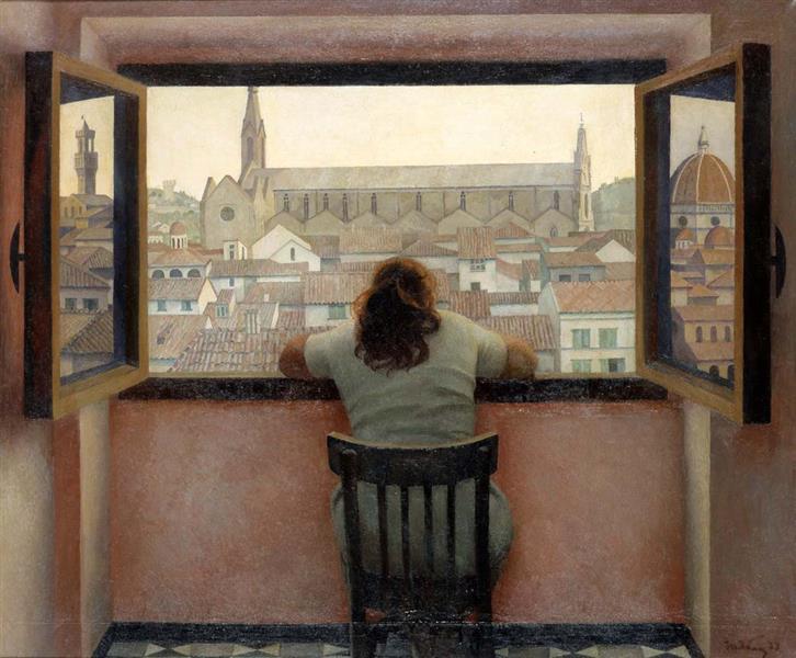Evening. Old Florence, 1973 - Tetyana Yablonska