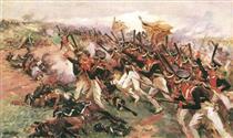 Attack of Lithuanians - Mykola Samokysh