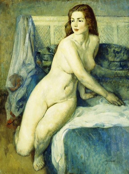 Nude in a Blue Interior, 1919 - Leon Kroll