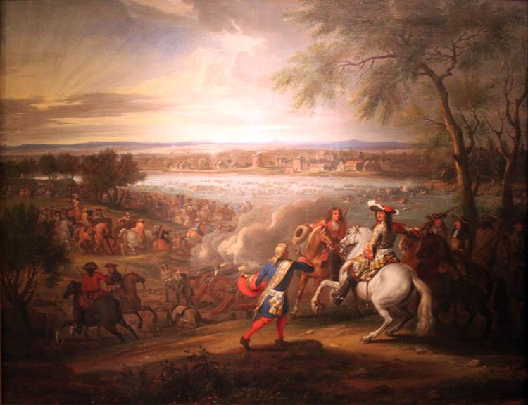 Louis Xiv, King of France, Crosses the Rhine at Lobith on 12 June 1672, 1680 - Adam van der Meulen