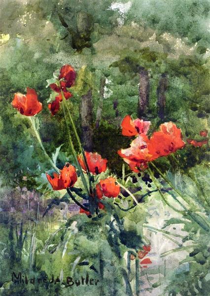 Garden Poppies - Mildred Anne Butler