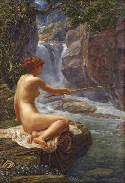 Une Nymphe Du Ruisseau - Edward Poynter