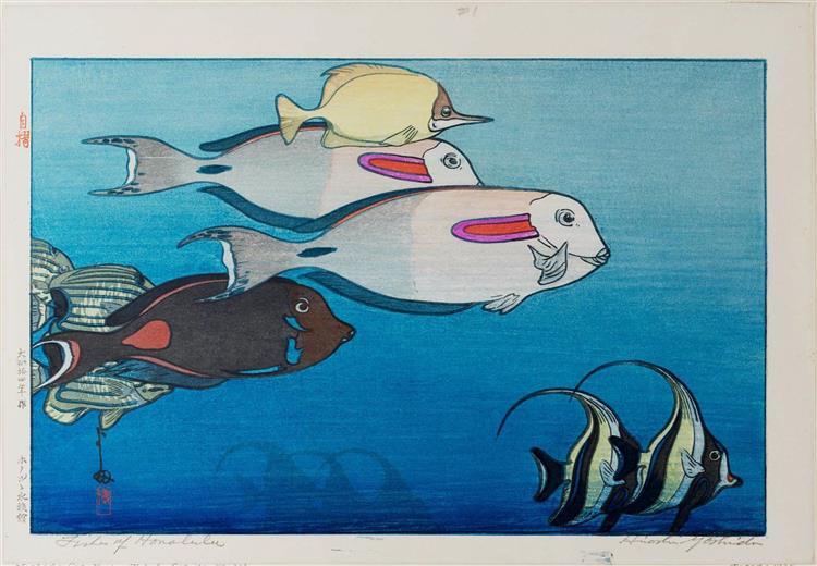 Fishes of Honolulu, 1925 - Hiroshi Yoshida