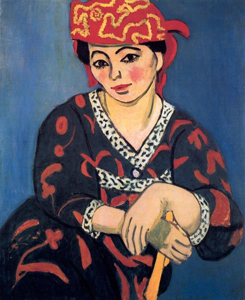 Madame Matisse, The Red Madras Headdress, 1907 - Henri Matisse