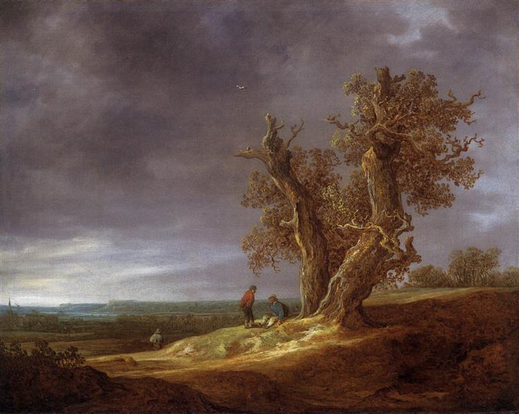 Landscape with Two Oaks, 1641 - Jan van Goyen