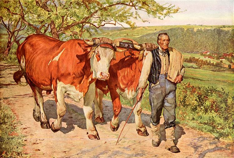 Der Landmann, 1894 - Eugène Burnand