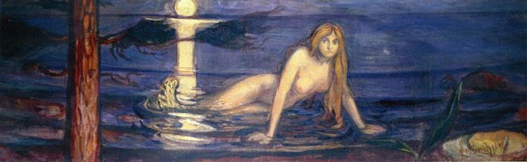 The Lady from the sea, 1896 - Edvard Munch