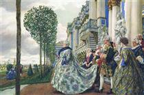 Elizabeth of Russia in Tsarskoye Selo - Yevgueni Lanseré
