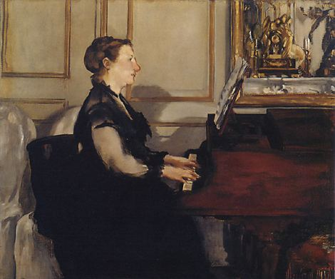 Madame Manet at the Piano, 1868 - Edouard Manet