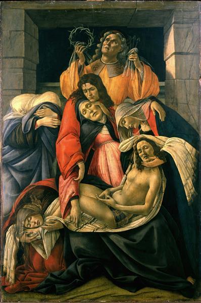 Lamentation over the Dead Christ with Saints, c.1490 - c.1495 - Sandro Botticelli