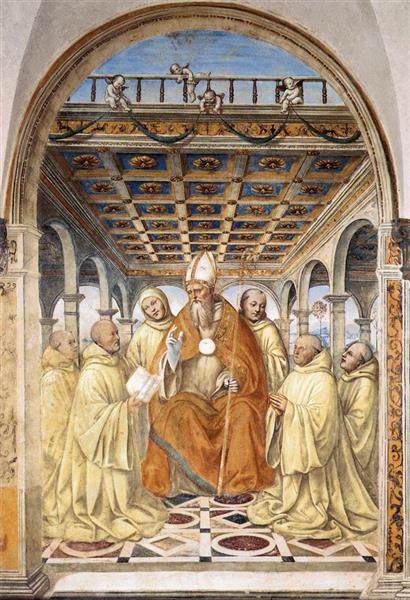 The Confirmation of the Olivetan Order by the Bishop of Arezzo, 1504 - Il Sodoma