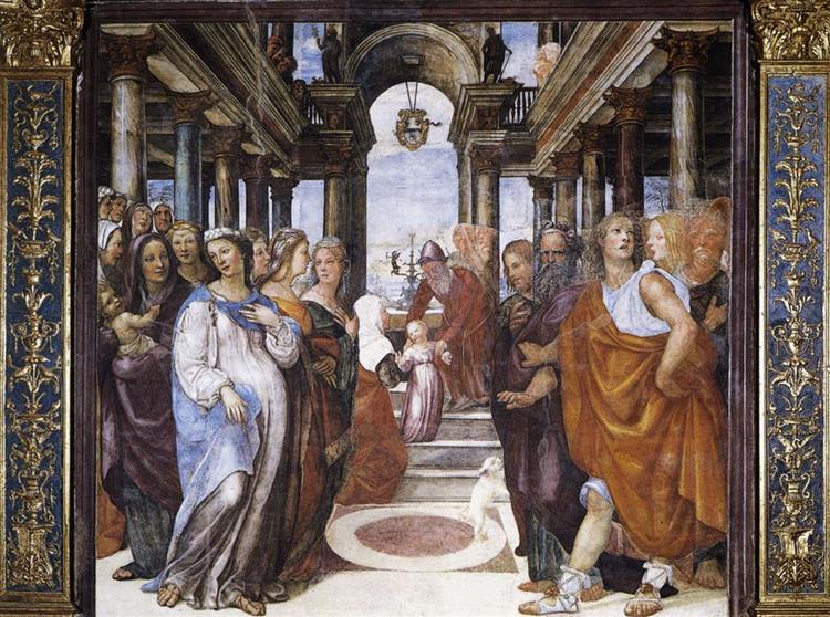 The Presentation of the Virgin in the Temple, 1518 - Giovanni Antonio Bazzi