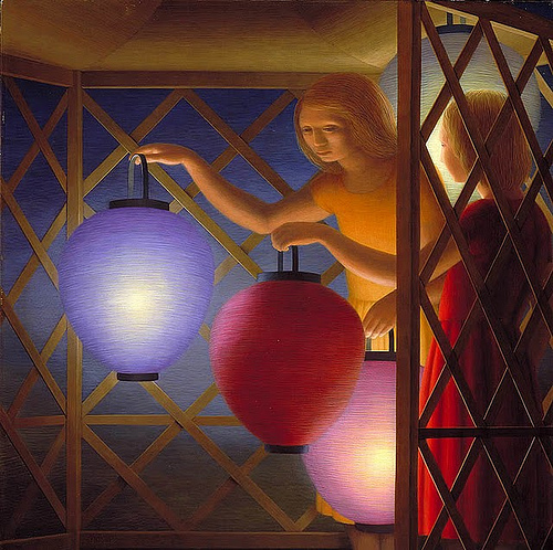 In the Summerhouse - George Tooker