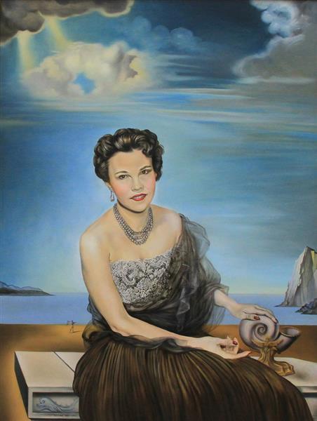 Portrait of Dolores Suero Falla (1955), 1955 - Salvador Dali