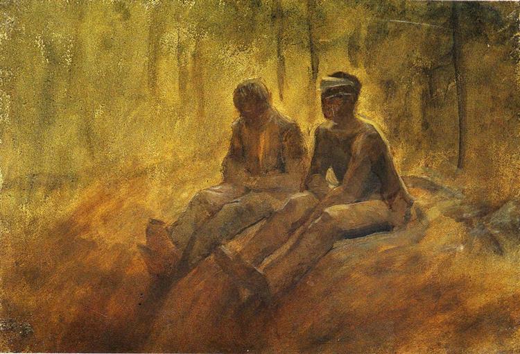 Resting Vagabonds, c.1914 - c.1918 - Laszlo Mednyanszky