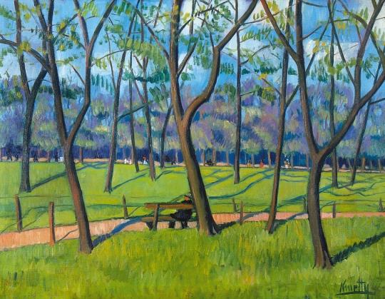The City Park, c.1912 - Kmetty János