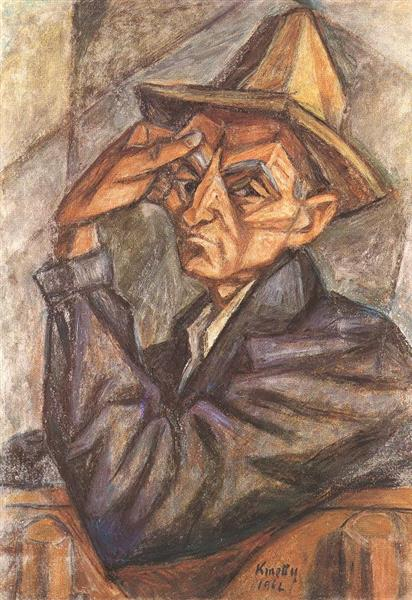 Self Portrait with Yellow Hat, 1965 - János Kmetty
