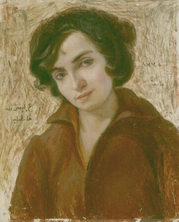 Portrait of Artist's Wife:Harika Lifij - Huseyin Avni Lifij