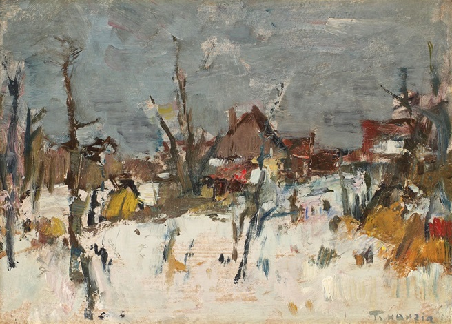 Winter in the village - Teodor Harșia