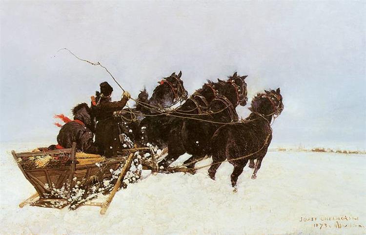 Four in Snowdrifts, 1873 - Józef Chełmoński