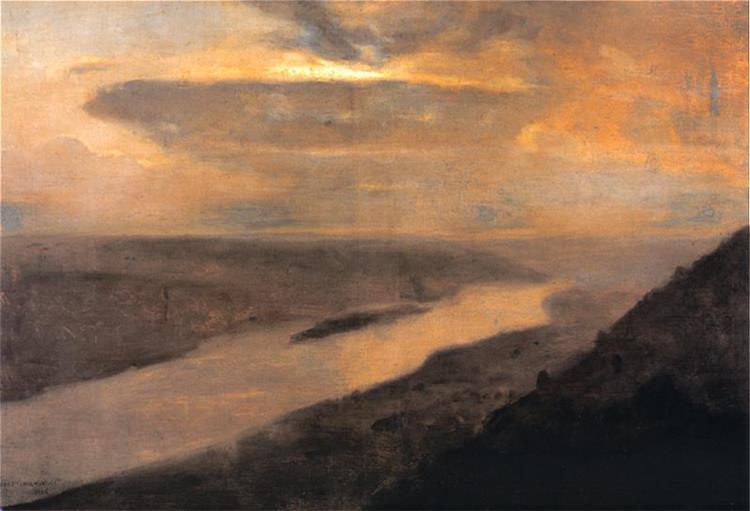 Dniester at Night, 1906 - Юзеф Хелмоньский
