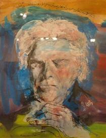 Portrait of Shamlou (Iranian Poet) - Hannibal Alkhas