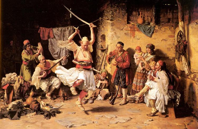 The Sword Dance or Fencing Game, 1890 - Paja Jovanovic