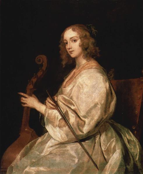 Portrait of Mary Ruthven, wife of the artist, c.1635 - c.1640 - Anton van Dyck