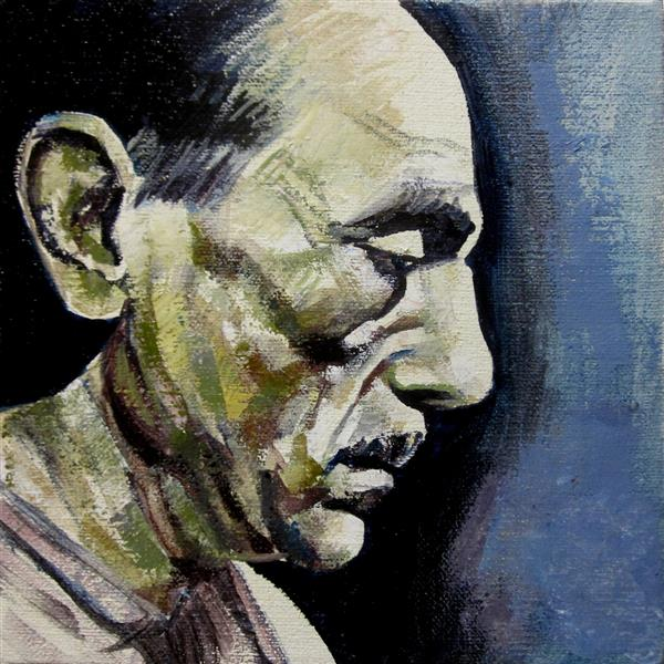 Portrait of Eduardo De Filippo, 2018 - Zani Corrado