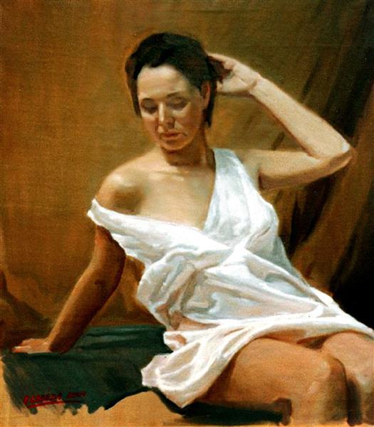 Posando en el estudio, 2004 - Alejandro Cabeza