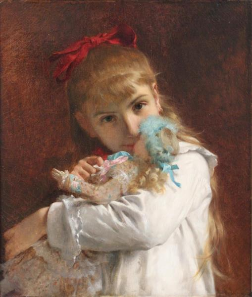 A New Doll(also known as Little Girl), 1881 - Pierre-Auguste Cot