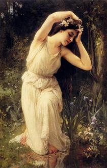 A Nymph In The Forest - Charles-Amable Lenoir