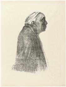 Self-Portrait in Profile Toward Right - Kathe Kollwitz