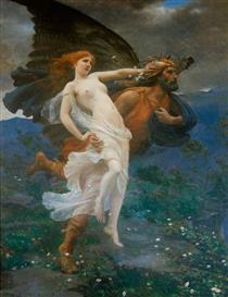 The Flight of Boreas with Oreithyia - Charles William Mitchell